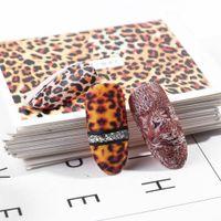 augen tattoo transfers großhandel-1 stücke Leopardenmuster Nail art Aufkleber Dekorationen Big Eye Decals Für Maniküre Transfer Wraps Neue Nägel Design Tattoo TRSTZ816-855