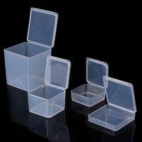 bagues carrées en plastique achat en gros de-NOUVEAU en plastique carré clair conteneurs en plastique bijoux perles de stockage anneau bague affaire collier organisateur boîtes de rangement de bijoux