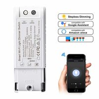 Wholesale wireless smart light switch resale online - Smart DIY Dimmer Module Light Switch Wireless Controller Home Automation Voice Control Wifi Dimmer Switch Work With Alexa Google