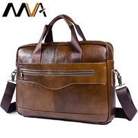 мужские кожаные сумки оптовых-Man Bags  Genuine Leather Men's Messenger Bag Laptop Briefcase Mens Leather Travel Shoulder Bags Business Bag for Men 1118