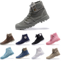 Wholesale womens ankle shoes flats boots resale online - Cheap free run PALLADIUM Pallabrouse Men High Army Military Ankle mens women boots Canvas womens Sneakers Casual Shoe mens designer Shoes