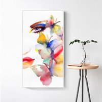 Wholesale colorful wall art paintings for sale - Group buy RELIABLI ART Canvas Painting Colorful Girl Butterfly Pictures Posters Prints Wall Art For Living Room Modern Home Decor No Frame