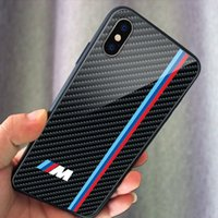 Wholesale samsung logo for phone online – Brands car Logo Phone Glass Case Phone Cover for Iphone s Plus Xs max Samsung Note9 Note10 A20 S9 S10 plus Lite