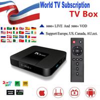 ingrosso smart box android dongle-Wrold abbonamento con TX3 Mini 8000+ vivere per USA Francia CA Caraibi abbonamento Supporto 4K Smart TV di Android TV Box M3U MAG Box