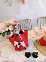h tasarımcı çantası toptan satış-tasarımcı lüks çanta çanta H K kova çanta çanta Lindia kadın moda kılıf yumuşak deri kadınlara basit çanta bag 18cm