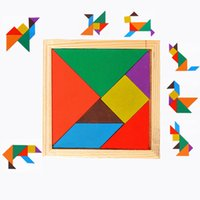 Wholesale tangram puzzles for kids for sale - Group buy Seven Piece Puzzle Jigsaw Puzzle Wooden Tangram Puzzle Toys Classic Educational Intelligence Development Toys for Kids