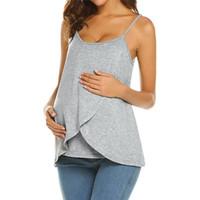 ropa para amamantar al por mayor-Telotuny Nursing Tops Maternity Breastfeeding T-Shirt Blusa ropa de maternidad para mujeres embarazadas mujeres enfermeras top Dec13