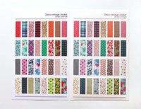 ingrosso taccuino plaid-Notebook Album Calendario Diario Note Memo Decor Scrapbook Paper Sticker 6 pezzi / lotto Floral Plaid Print Memo Pads