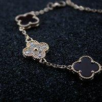 doğal 14k elmas toptan satış-Kadınlar Tasarımcı Takı Lüks Doğal Elmas İnci Bilezik Kadın Anne Gümüş Takılar Çiçekler Bilezik sevgililer Günü Takı