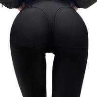 leggings de fitness sexy de cintura baja al por mayor-Sexy Push Hip Gothic Up Leggings para Fitness Leggings de cintura baja Mujeres Jegging Leggins de buena calidad
