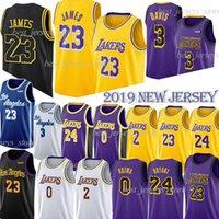 ingrosso jersey bryant-LeBron James 23 Maglie NCAA 24 Kobe Anthony 3 maglie Davis 0 Kuzma 2 Ball 14 Ingram 8 Bryant Maglie 2019 Maillots de basketall