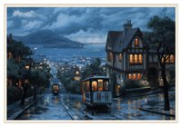 Wholesale amazing modern paintings for sale - Group buy Amazing City Night Rain Home Decor HD Printed Modern Art Painting on Canvas Unframed Framed