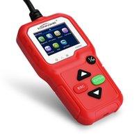 leitores de falha de carro venda por atacado-KW680 OBDII OBD Leitor de Código de Scanner de Diagnóstico Do Carro Leitor de Código de Falha Do Motor Leitor Detector de Linguagem Múltipla Automotivo