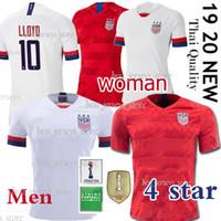 usa kadın futbolu toptan satış-4 yıldız ABD 2019 Dünya kupası Amerika MORGAN Home away KRIEGER ERKEKLER + kadın RAPINOE HEATH ABD Futbol Forması 2020 LLOYD Futbol formaları gömlek