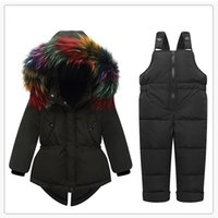 9344fb9a87981 Wholesale snow ski suit online - Baby Girls Snow Suit Winter Down Clothes  Set Multicolor Fur