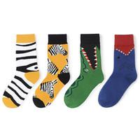 Wholesale cycling socks sale resale online - Animal Series Originality Middle Tube Socks Lovers Couple Socks Perfect Neutral Sports Socks Popular Fashion Multicolor Hot Sale lyF1 Anim