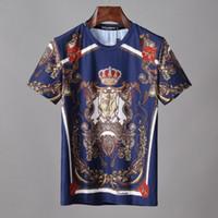 männer leopard polo großhandel-fgfk Herrenbekleidung Designer T-Shirt schwarz und weiß gestreift DG Marke POLO Shirt Sommermode Shirt Baumwolle Komfort Medusa Print T-Shirt