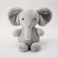 animal elefante al por mayor-Elefante de Peluche Animales de Peluche Bebé Animado Flappy El Elefante Suave Peluche Regalo de Navidad para Regalos