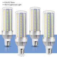 levou lâmpadas de vela venda por atacado-High Power LED milho luz E27 Lâmpada LED de 25W 35W 50W bulbo 110V E26 Fan alumínio arrefecimento Não Flicker Luz 5730