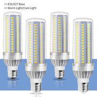 işıklı mumlar ledli toptan satış-Yüksek Güç Mısır Işık E27 LED Lamba 25W 35W 50W Mum Ampul 110V E26 Alüminyum Fan 5730 Yok Flicker Light Soğutma LED