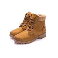 çizme astarı toptan satış-Kürk Astarlı Kar Bayanlar Ayakkabı Boot Kadınlar Kış Boot Kadınlar Sıcak Plat zapatos de mujer botas mujer invierno ayakkabı kadın botas