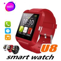 ingrosso vigilanza del tocco della donna-U8 Bluetooth Smart Watch Touch Screen Camera Pedometer Fitness Sport Watch per bambini Uomo Donna Supporto TF Card per Android IOS