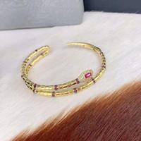 brazalete amarillo al por mayor-Nueva moda mujer pulseras brazaletes oro amarillo plateado CZ serpiente pulseras brazaletes para niñas mujeres bonito regalo