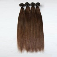 Wholesale 12 extension flat tip resale online - CE Ceitification factory direct free sample Brizilian virgin human Hair natural color Flat tip hair extensions