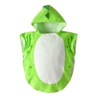 toalha de banho do bebê verde venda por atacado-19 anos novo roupão infantil bebê verde multi-horned dinossauro algodão com capuz manto manto bebê toalha de banho