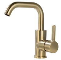 altın kaplama musluklar toptan satış-Havza Musluk Altın plaka Pirinç Sıcak ve Soğuk Su Mikser Dokunun Tek Kolu Güverte Üstü Banyo Lavabo Bataryaları G0122