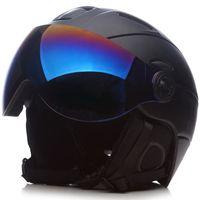skifahren schutzbrillen frauen großhandel-Marke mann / frau / kinder skihelm / brille maske snowboardhelm moto bike radfahren skateboard snowmobile ski sport sicherheit
