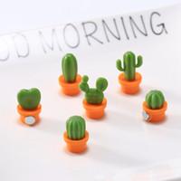 Wholesale tools pictures resale online - 6pcs set Cactus Fridge Sticker Cute Mini Succulent Plant Magnets Fridge Sticker Message Picture Home Tools HHA946