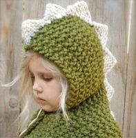 ingrosso marca cc-2019 dinosaur Beanie Hats per bambini e ragazzi lana grezza Winter Hat Bonnet Designer Cc Berretti Marchio Mens Womens Luxury Skull Cap 54-56 cm
