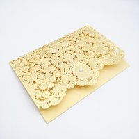 Wholesale engagement invitations cards lace for sale - Group buy 50pc high quality Cutout Lace Crystal Wedding Invitation Card Engagement Party Valentine s Day Greeting Card Happy Birthday