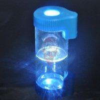 caixas de pires iluminadas venda por atacado-Light-Up LED Ar Aperto de Prova De Vidro De Ampliação De Plástico De Armazenamento Stash Jar Recipiente de Verificação 155 ML Selo De Vácuo De Plástico Caixa De Comprimidos De Pílula Garrafa
