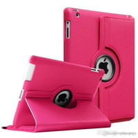 Wholesale Hot Degrees Rotating Flip Smart Cover PU Leather Stand Case for New iPad Pro Air Air2 mini Mini4