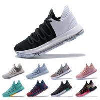 x sıcak golf toptan satış-Sıcak Satış KD 10 Kevin Durant Erkekler Basketbol Ayakkabı Oreo BHM Beyaz siyah sayılar Yıldönümü Sıva Igloo Çok Renkli 10 X Spor Sneaker
