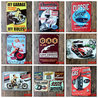 Wholesale car club tin signs resale online - Metal Tin Signs Car Repairing Store Poster Vintage Lady Motor Plaques Decorative Iron Plates Bar Club Wall Decor Designs BK3191