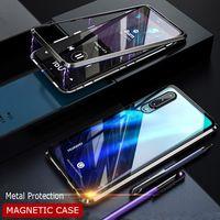 магнитный кейс оптовых-Роскошный магнитный адсорбции металлический бампер телефон чехол для Huawei P30 Pro P20 Pro противоударный чехол для P30 Lite Note 4e чехол