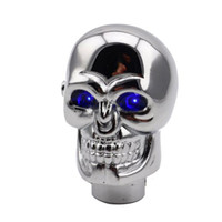 Wholesale shifting lever for sale - Group buy 1PC Universal Car Blue LED Skull Head Auto Manual Gear Stick Shift Knob Lever