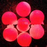 bola de golfe levou venda por atacado-Bola De Golfe de luz Led Golfballs Bolas Piscando Cores Mix Ativado Luminosa Noite Prática de Treinamento Ao Ar Livre Leve 7zyf1