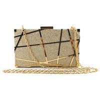 gold kupplungskette großhandel-Mode Pailletten Frauen Clutch Bag Frauen Umschlag Tasche Clutch Abend weibliche Kette Soulder Messenger Crossbody Taschen Handtasche # H25