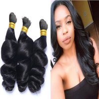 Wholesale chinese hair prices for sale - Group buy Loose Wave Bulk Hair For Braiding Brazilian Hair Loose Curly Human Braiding Hair Bulk Cheap Price