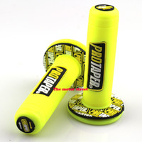Wholesale motorcycle handlebars rubber resale online - Pro taper Motorcycle High Quality Protaper Dirt Pit Bike Motocross quot yellow Handlebar Rubber Gel Hand Grips Brake