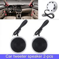 Wholesale music stereo system for sale - Group buy 2pcs mm W Aluminium Shell Silk Stretch Film Car Tweeter Speakers Auto Horn Audio Music Stereo Speaker for Car Audio System