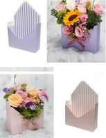 zarf düğün toptan satış-Yeni Şenlikli Yaratıcı Zarf Fold Çiçek Kutusu Zarf Fold Çiçek Kutusu Düğün Nişan Malzemeleri Parti Dekor