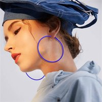 Wholesale big sexy jewelry for sale - Group buy AY Fashion Candy Color Sexy Big Circle Hoop Earrings For Women Green Yellow Blue Diameter cm Earring Wedding Party Jewelry