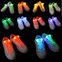 neonlicht schnürsenkel großhandel-HEIßER 80 CM Leuchten Rave Neon Party LED Schnürsenkel Blinkende Farbige Schnürsenkel Schnürsenkel Leucht Schnürsenkel Party Weltweit Verkauf 10 paare / 20 stücke