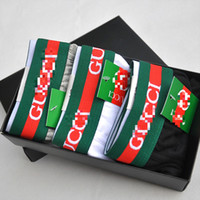 boxers modais xl venda por atacado-Moda Marca Men '; S Underwear Pants Tide masculinos Carta Algodão Briefs Plain para o menino cor pura Quadrangle Cueca Boxers