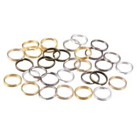 разомкнутые разъемы оптовых-St.kunkka 200pcs/lot 4 6 8 10 12 mm Open Jump Rings Double Loops Gold Silver Color Split Rings Connectors For Jewelry Making DIY